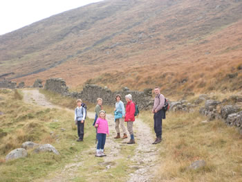 Walking in the Mourne Mountains - A short drive from The Hill Cottage Accommodation
